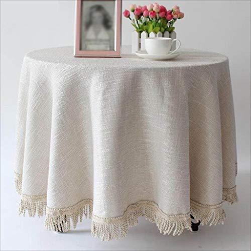 Fluweel tafelkleed, rond, van katoen, voor de winter, tafelkleed van linnen, vierkant 130 * 130cm Wit.