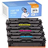 MyCartridge PHOEVER Tóner compatible (sin chip) para HP 207A W2210A W2211A W2212A W2213A para HP Color Laserjet Pro M255dw MFP M282nw M283cdw M283fdw (negro/cian/magenta/amarillo)
