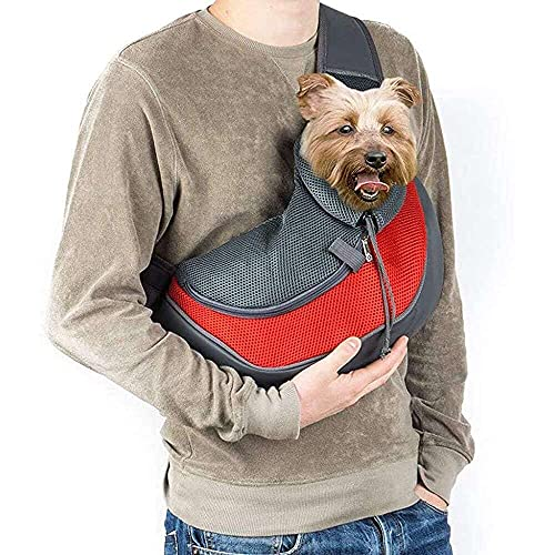 jiabushu shop Bolsa de hombro para perro pequeño con correa para perro