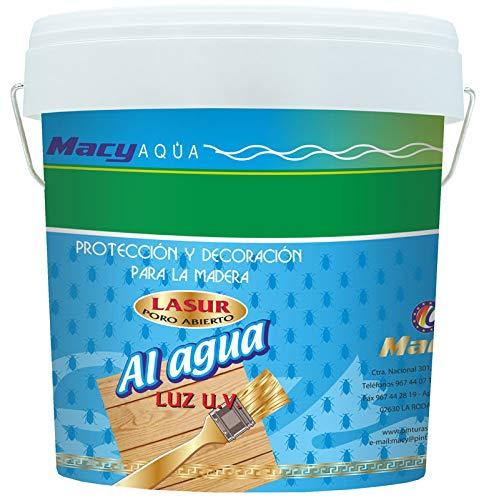 MACYFOND LASUR AL AGUA, producto PROTECTOR DE LA MADERA eficaz contra los hongos - 4 LITROS y 750 ML (4 Litros)