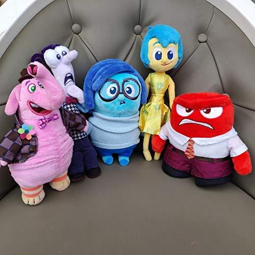 Hokorini 5 muñecos de Peluche, por Dentro y por Fuera, Tristeza, enfado, Miedo, alegría, los Soldados Son Peluches, Peluches, Juguetes para niños