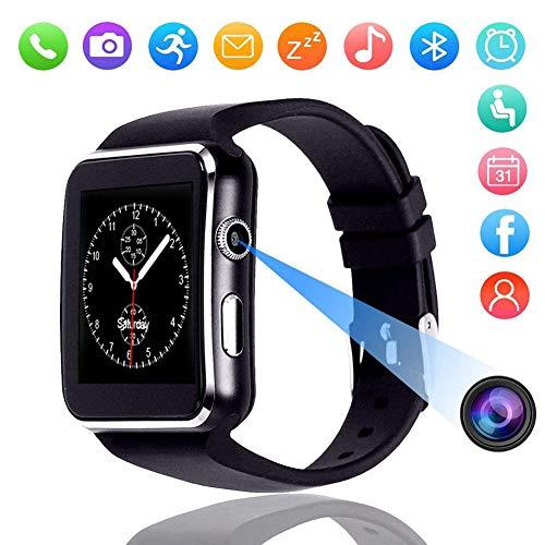 X6 Smart Watch, 1,54 Zoll IPS Touchscreen wasserdichtes Smartwatch-Telefon mit SIM-Kartensteckplatz, mit GPS, Kamera, Musik, Schrittzähler.