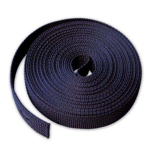 Gurtband 23mm Breite Farbe SCHWARZ 6m-Rolle