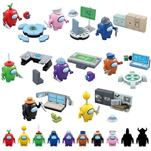 Kerta Figuras de acción modelo juguetes 10 piezas lindo juego espacio astronauta figuras muñecas bloques de construcción rompecabezas conjunto juguetes colección fiesta regalo para fans del juego