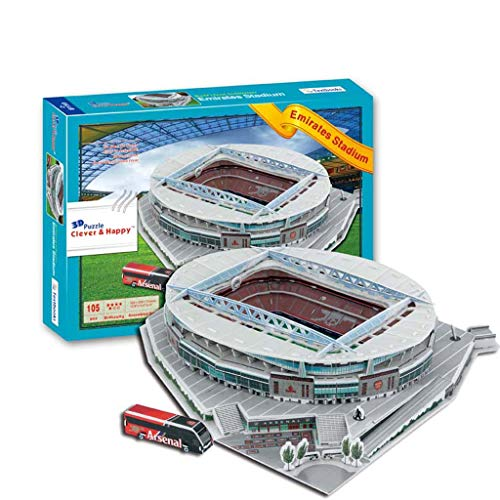 Emirates Stadion Model, 3D Emirates Stadium, DIY Puzzle Emir Stadium Model Children's Educatief speelgoed Decoratie