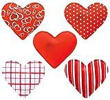 OUT OF THE BLUE Juego de 4 Calentadores de Bolsillo en Forma de corazón, Calentador para Dedos, Evita Las Manos frías en Invierno