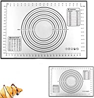 Large Silicone Pastry Baking Mat (40x60cm), Reayou Non-Stick Reusable Rolling Pastry Mat Cookie Dough Mat with Measuring...