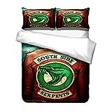 Housse De Couette Riverdale Riverdale South Side Serpent Parure De Lit 3 Pièces Housse De Couette Avec En Impression 3D Draps Et...