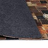 Nyyi Teppich Echtleder Jeans-Label Patchwork 120 x 170 cm Braun - 3
