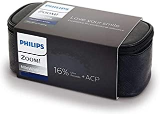 Philips Zoom 16% Nite White Carbamide Peroxide Teeth Whitening Gel Complete Kit | 6 x 2.4gram Syringes | Zipper Bag & Mout...