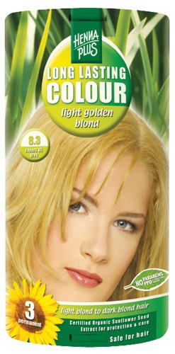Hennaplus 49134 Long Lasting Colour 8,3 Light Golden Blond