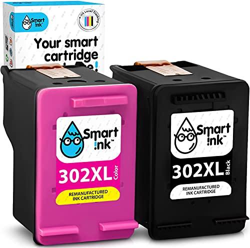Smart Ink Wiederaufbereitete Druckerpatronen als Ersatz für HP 302XL 302 XL 2 Multipack Schwarz & Farbige für HP Officejet 5220 3830 3831 3833 Envy 4525 4520 Deskjet 3639 3636 3630 2130 1110 drucker