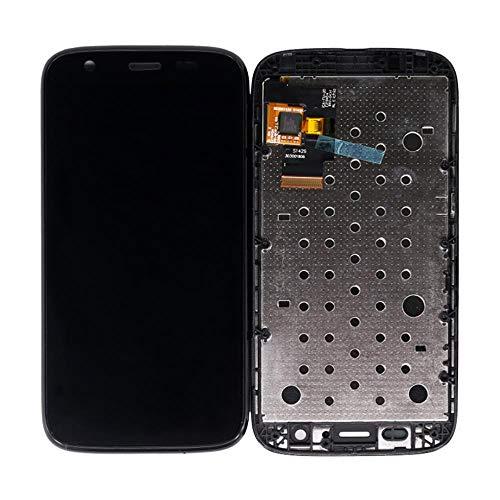 Un known LCD for Moto G XT1032 LCD Display Touchscreen Digitizer mit Rahmen for Motorola G1 XT1033 XT1028 XT1039 XT1045 Elektronisches Zubehör (Color : Black, Size : 4.5