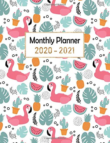 monthly planner 2020-2021: 2 year planner 2020-2021 monthly 8.5 x 11 (24 month : January 2020 - December 2021) / time management / Schedule Organizer ... Good ideas for gifts : Beautiful flower cover
