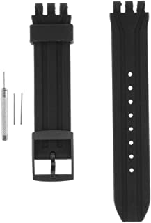 FITYLE 18mm Silicone Rubber Watch Strap Sports Wristband For Swatch SUIB400|SUIK400