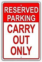 安全警告標識。予約済みの駐車場は持ち帰りで持ち帰り可能予約済み警告のみ警告警告警告スズメタルティンサインプレート。