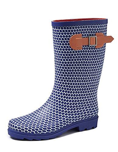 Gevavi Boots abby04410 Abby Bottes en caoutchouc pour femme, 41, bleu