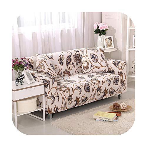 Funda de sofá de estilo nórdico de las fundas de algodón elástico para la sala de estar sofá de la funda de sofá toalla individual/dos/tres/cuatro plazas, Color 1, 2-seater 145-185cm