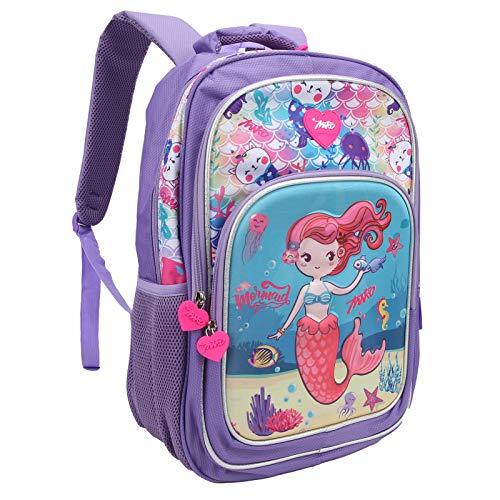 Oreilet Mochila para niños, portátil Colorido de la Mochila del niño para los Libros para el Bolso del lápiz para el Cuaderno(Púrpura)
