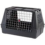 Ferplast Dog Carrier TRANSPORTIN Atlas Car 100 Scenic Black, Negro, Mediano