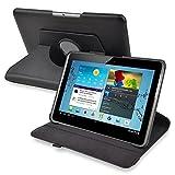 SODIAL(R) Noir Boitier pivotant a 360 degres en cuir pour 10,1 pouces Samsung Galaxy Tab 2 P5100 /...