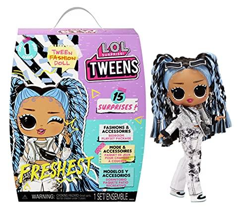 LOL Surprise Tweens Puppe - Entdecke 15 Überraschungen - Inklusive Outfits, Accessoires, Haarbürste, Kleiderbügel, Puppenständer und mehr - Tolles Geschenk für Kinder - Freshest