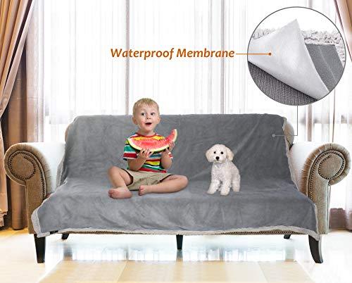 Catalonia Tagesdecke Wasserdicht Decke, Bett Sofaüberwurf Kuscheldecke Schonbezug Couchschoner Wasserabweisend Wohndecke Überwurf Fleece Sherpa Decke for Bett Couch Sofa Camping Bootfahren 203x152cm