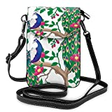 XCNGG bolso del teléfono Peacock Tree Flower Cell Phone Purse Crossbody Bag Pouch Shoulder Bags Wallet For Women Girls Travel Wedding