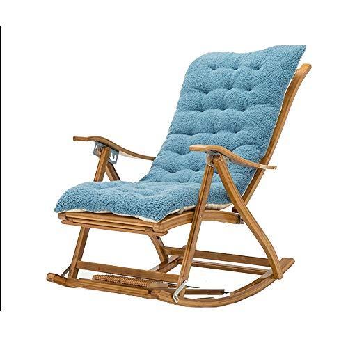 Bseack Fauteuil à Bascule, Chaise Pliante réglable en Bois Massif avec Un Angle de 170 ° avec Repose-Pieds (Couleur : A)