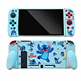 for Nintendo Switch Cute Kawaii Cartoon Character Design TPU Soft Cases, Funny Fun Fashion Cool Switch Game Skins for Girls Boys Kids,Stitch - 02