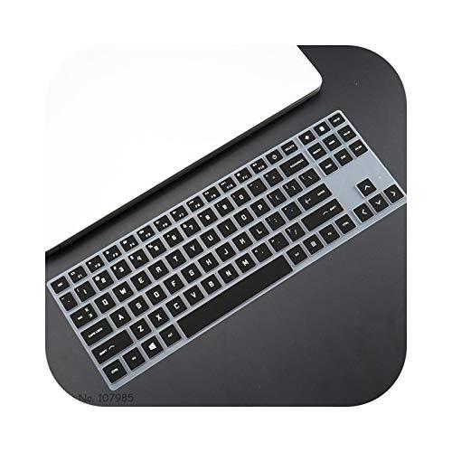 Keyboard Protector for HP Omen 15-en0001ax 15-en0034ax 15-en0023dx 15-en0029nr en008n 15-en AMD Series Keyboard Skin Protector Cover-Black