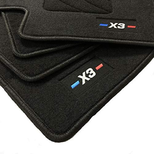 Zesfor Alfombrillas para BMW X3 E83 Acabado M (2003-2010)