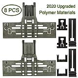Upgraded 8 Packs Polymer Material W10546503 Upper Rack Adjuster & W10195840 Dishwasher Top Rack Adjuster &...