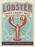 l.e.i. Lobster Metal Tin Sign Maine Lobster Fresh Caught Daily£¬Always The Maine Event£¡ Home Kitchen Garage Bar Club Hotel Wall Decor Signs 12X16 Inch