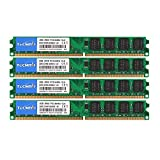 TECMIYO DDR2 RAM 8GB Kit (4X2GB), DDR2 800 PC2-6400 240-Pin DIMM Desktop Memory RAM Modules