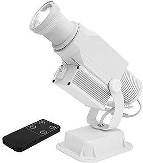 Proyector GOBO con Logotipo LED De 15 W IP65 A Prueba De Agua con Zoom Manual Luz De Efecto DJ para Uso En Interiores Y Exteriores,Blanco,Outdoor