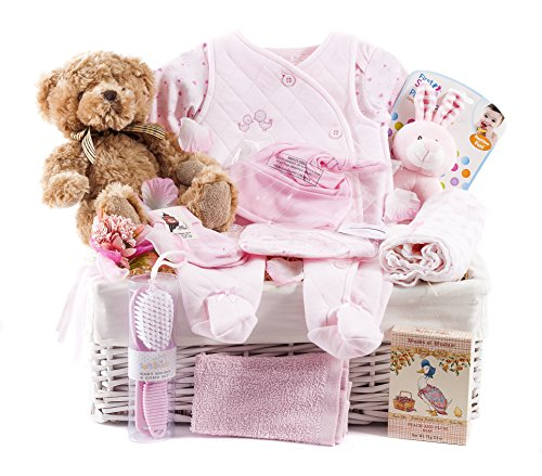 Wickers Gift Basket Panier de luxe pour fille Inscription Just For Baby