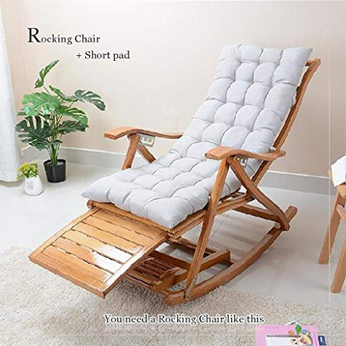 WUTONG Sillón vago de Madera Sillón reclinable Zero Gravity Relax, Mecedora Plegable Diseño ergonómico Acostado Saludable Descanso para almorzar