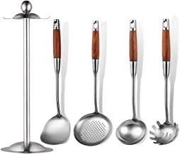 Cooking Utensils Set Utensil Set Kitchen Utensil Set 5 Pieces Natural Wooden Handles Cooking Tool Include Spatula Tools Pa...