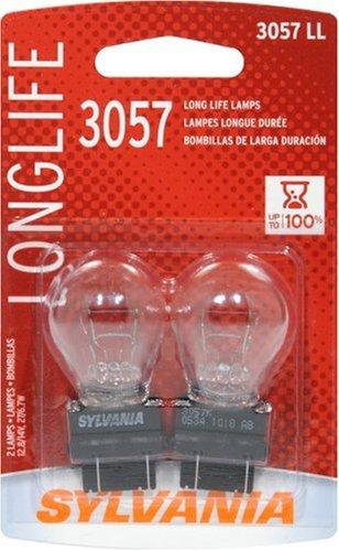 Sylvania 3057LL Long Life Miniature Lamp, (Pack of 2)