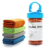 TANCANO Sports Towel for Instant Cooling Relief Microfiber Towels for Golf Workout Swimming Gym Yoga Travel Camping Fitness 40'x12' Sweat Towel, Orange