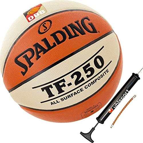 Spalding Basketball Indoor/Outdoor mit DBB Logo Größe 6 + Ballpumpe