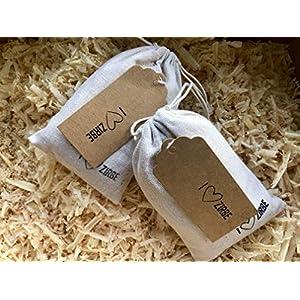 2x Zirbensäckchen mit frischen Zirbenspänen- Duftkissen für erholsamen Schlaf I Zirbelkissen