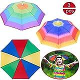 BESLIME Regenschirmhut - Faltbarer Sonnenschirm Regenschirm Hut,Mini Multi Colour Regenschirmhut...