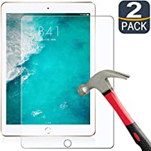 Romuto iPad Air 2 Screen Protector, [2 Pack] Premium Tempered Glass for iPad 2018/2017 / Air 2 / Air 1/Pro 9.7 inch/6th/5th Generation[9H Hardness][Scratch-Resistant][HD Clear], Protect Your Tablet