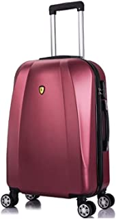 XLHJFDI Stylish Boarding Case,Universal Wheel Waterproof Trolley Luggage Business Suitcase,ABS Trolley Case,Silent Universal Wheel Suitcase,67 * 22 * 40cm,Black, Pink, Red (Color : Red)
