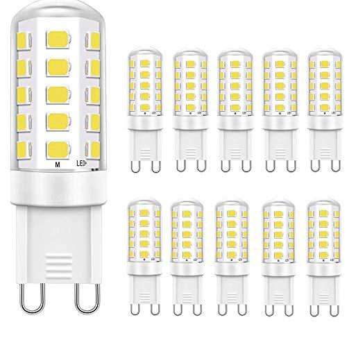 Jpodream G9 LED Lampe, LED Gu9 Bulb 5W 32X 2835SMD Umweltfreundliche LEDlampen, 400LM, Ersatz für 40W Halogenlampen, Kaltweiß 6000k, AC220-240V,CRI≥80, Nicht Dimmbar, Energieeinsparung 90% - 10er Pack