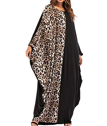 Qianliniuinc Muslimische Kaftan Kleider Damen Lang - Islamische Kleidung Gebetskleidung für Frauen Arabische Abaya Dubai Kleid Ärmel Übergröße Beiläufig Partei Maxikleid One Size