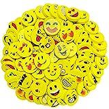 100 StüCk Emoji Radiergummi SüßEr Radiergummi Smiley Radiergummi für Geburtstag Party Geschenk Malerei Schreiben Zeichnung LöSchen Text Bunte Lustige Radiergummi Smiley und Verschiedene Motive