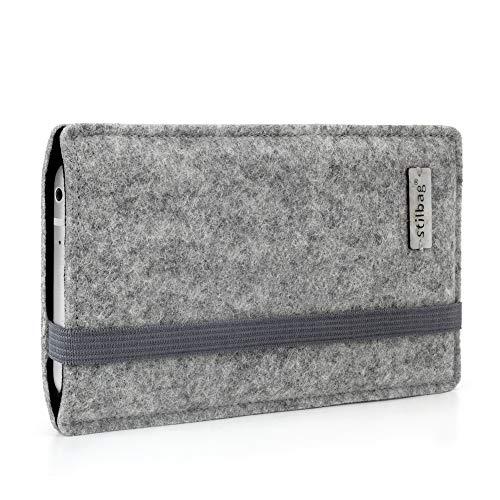 stilbag Funda de Fieltro 'Finn' para Sony Xperia Z5 Premium - Color: Gris/Negro